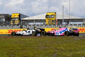 Pierre Gasly, AlphaTauri AT01, Sergio Perez, Racing Point RP20