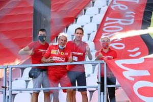Ferrari fans in a grandstand allocated to 250 of Italy's Covid 19 treatment staff