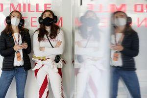 #50 Richard Mille Racing Team Oreca 07 - Gibson: Tatiana Calderon with her sister Paula