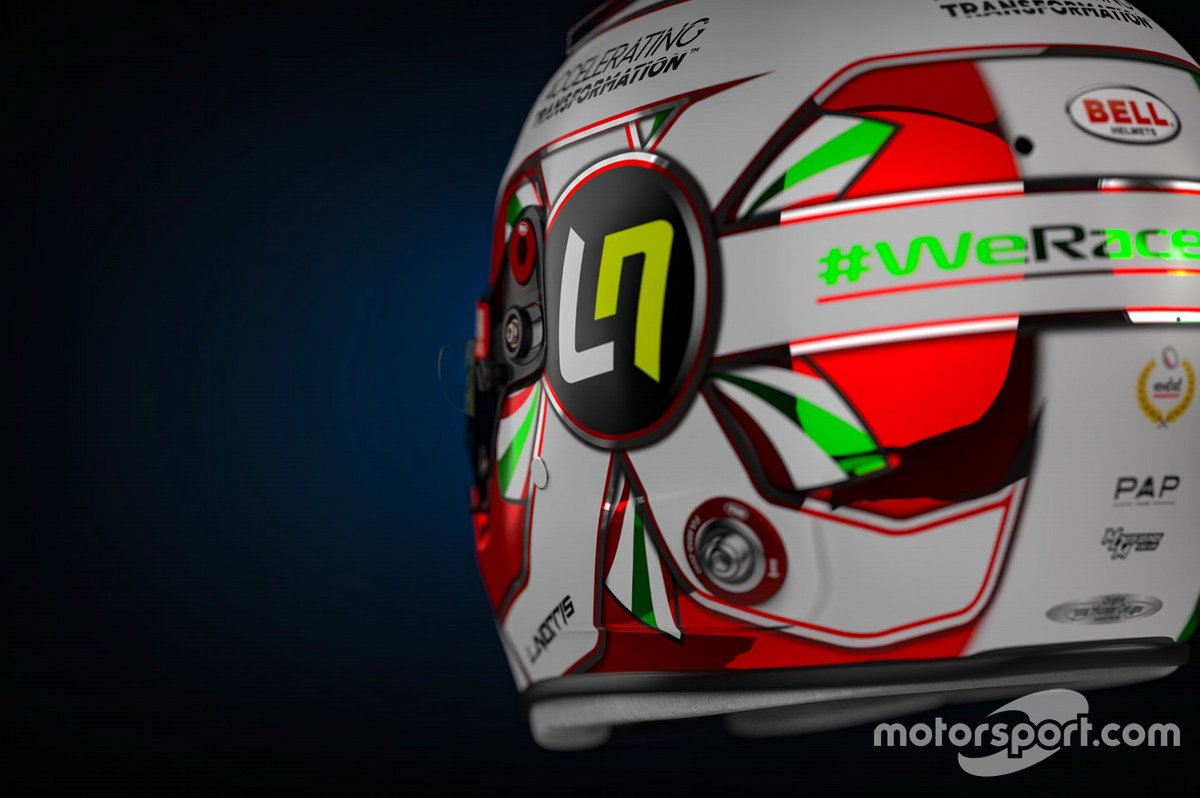 El casco especial de Lando Norris, McLaren en Imola