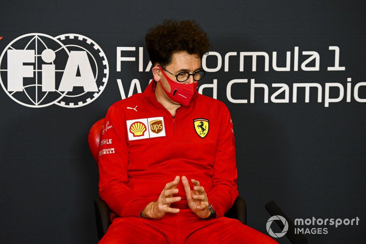 Mattia Binotto, Team Principal Ferrari, in a Press Conference