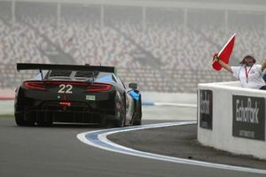 #22 Gradient Racing Acura NSX GT3:Till Bechtolsheimer, Marc Miller loses a tire and causes a red flag