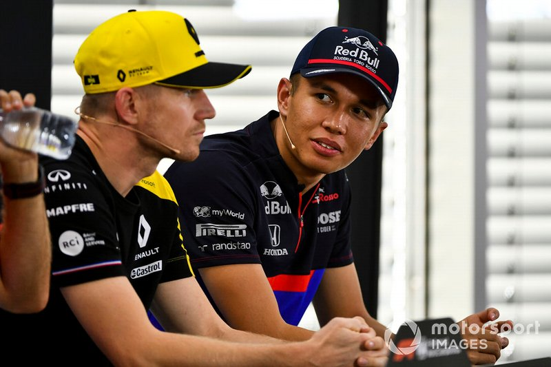 Alexander Albon, Toro Rosso and Nico Hulkenberg, Renault F1 Team In the Press Conference