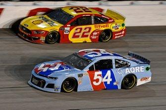 Garrett Smithley, Rick Ware Racing, Chevrolet Camaro AQRE.app, Joey Logano, Team Penske, Ford Mustang Shell Pennzoil
