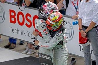 Race winner Nico Müller, Audi Sport Team Abt Sportsline and Robin Frijns, Audi Sport Team Abt Sportsline