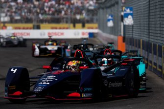 Robin Frijns, Envision Virgin Racing, Audi e-tron FE05 Mitch Evans, Panasonic Jaguar Racing, Jaguar I-Type 3