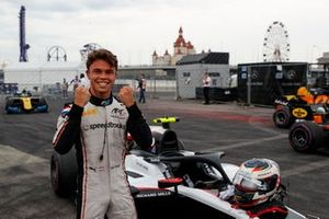 Nyck De Vries, ART Grand Prix, celebrates pole position