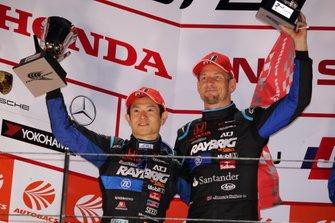 Podium: second place #1 Kunimitsu Honda NSX GT: Jenson Button, Naoki Yamamoto