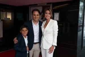 Felipe Massa con la moglie e il figlio
