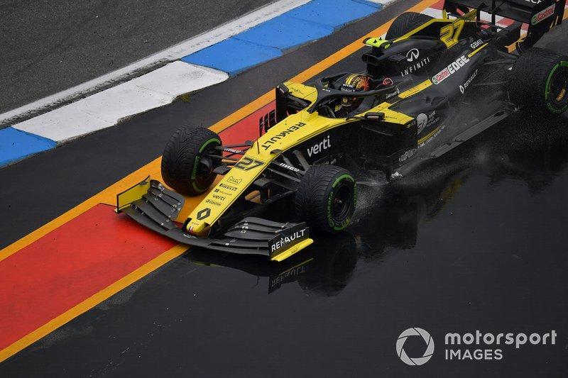 La carrera de Hulk se acabó en la misma curva que la de Leclerc