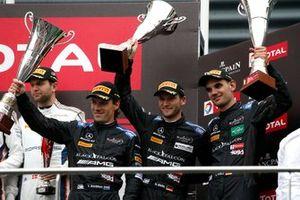 Podium: third place #4 Mercedes-AMG Team Black Falcon Mercedes-AMG GT3: Yelmer Buurman, Luca Stolz, Maro Engel