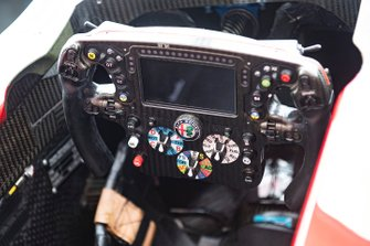 Steering wheel of Alfa Romeo Racing C38