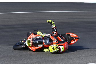 Crash Alvaro Bautista, Aruba.it Racing-Ducati Team