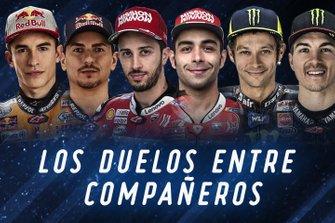 Los duelos entre compañeros de MotoGP2019