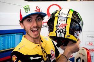 Francesco Bagnaia, Pramac Racing, con il suo casco