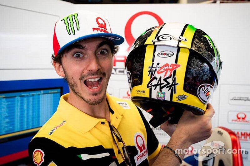 Francesco Bagnaia, Pramac Racing with his helmet