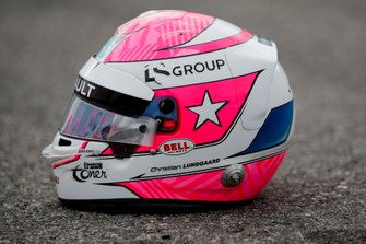 Casco tributo a Anthoine Hubert de Christian Lundgaard, ART Grand Prix