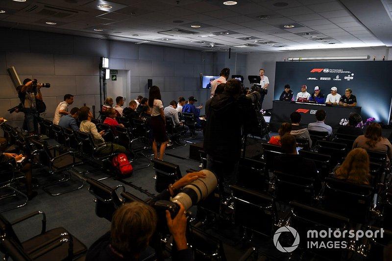 Lance Stroll, Racing Point, Kimi Raikkonen, Alfa Romeo Racing, Daniil Kvyat, Toro Rosso, Valtteri Bottas, Mercedes AMG F1 and Kevin Magnussen, Haas F1