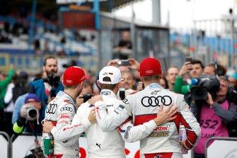 Le vainqueur Marco Wittmann, BMW Team RMG, René Rast, Audi Sport Team Rosberg, Nico Müller, Audi Sport Team Abt Sportsline