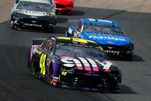 Jimmie Johnson, Hendrick Motorsports, Chevrolet Camaro Ally and Ricky Stenhouse Jr., Roush Fenway Racing, Ford Mustang Fastenal