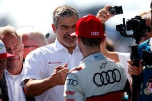 Dieter Gass, Head of DTM Audi Sport with René Rast, Audi Sport Team Rosberg