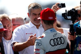 Dieter Gass, Head of DTM Audi Sport with René Rast, Audi Sport Team Rosberg