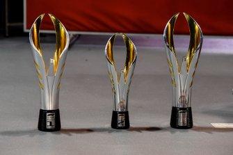 Race winner's Trophy, Second Place Trophy and Constructors trophy
