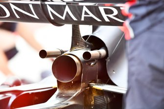 Red Bull Racing RB15 exhaust details