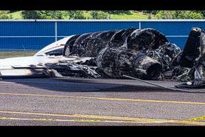 Dale Earnhardt Jr. plane crash wreckage