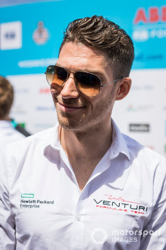 Edoardo Mortara, Venturi Formula E, talks to the press