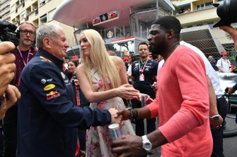 Helmut Marko, Consultant, Red Bull Racing with P.K. Subban and Lindsey Vonn