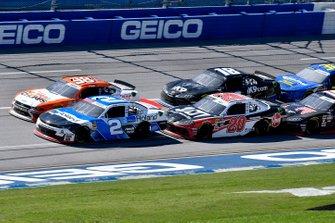 Tyler Reddick, Richard Childress Racing, Chevrolet Camaro Roland and Christopher Bell, Joe Gibbs Racing, Toyota Supra Rheem-Johns Mansville