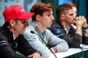 Sébastien Buemi, Nissan e.Dams, in the press conference, with Alex Lynn, Panasonic Jaguar Racing
