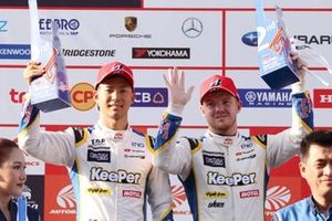 GT500 podium: second place #37 Team Tom's Lexus LC500: Ryo Hirakawa, Nick Cassidy