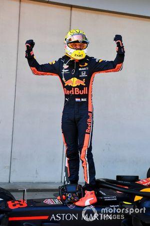 Max Verstappen, Red Bull Racing, au parc fermé