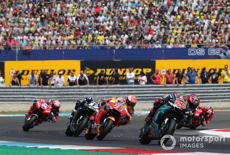 Куартараро впервые лидировал в гонке чемпионата MotoGP, возглавляя пелотон в течении 12 кругов. Виньялес впервые лидировал в 2019 году. Благодаря этому число гонщиков, которые оставались лидерами в течении хотя бы круга, в текущем сезоне достигло восьми. Больше всего кругов лидирования, ожидаемо, у Маркеса: из 192 кругов, которые он проехал в этом сезоне, по ходу 112 Марк возглавлял пелотон