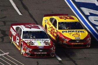 Ryan Blaney, Team Penske, Ford Mustang BodyArmor and Joey Logano, Team Penske, Ford Mustang Shell Pennzoil