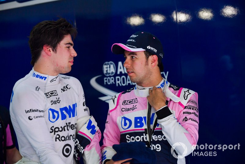 Lance Stroll, Racing Point y Sergio Pérez, Racing Point