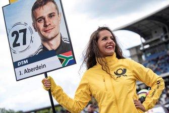 Grid girl of Jonathan Aberdein, Audi Sport Team WRT