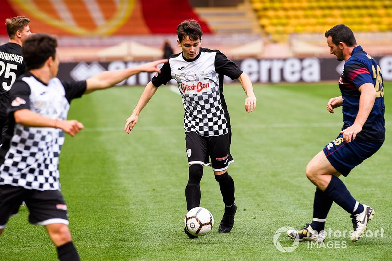 Charles Leclerc, Ferrari plays football