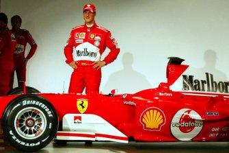 Michael Schumacher with the new Ferrari F2004
