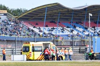 Jorge Lorenzo, Repsol Honda Team getting in the ambulance