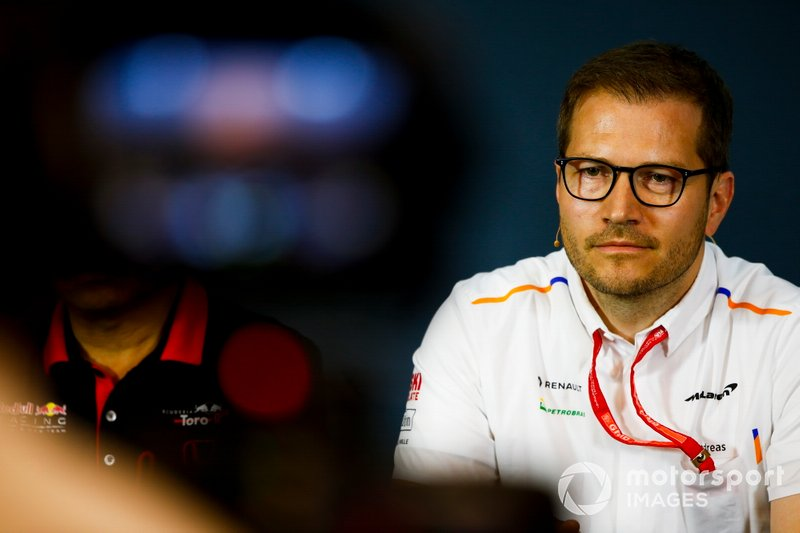 Andreas Seidl, Team Principal, McLaren, in the team principals Press Conference