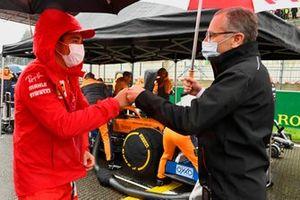 Charles Leclerc, Ferrari, with Stefano Domenicali, CEO, Formula 1