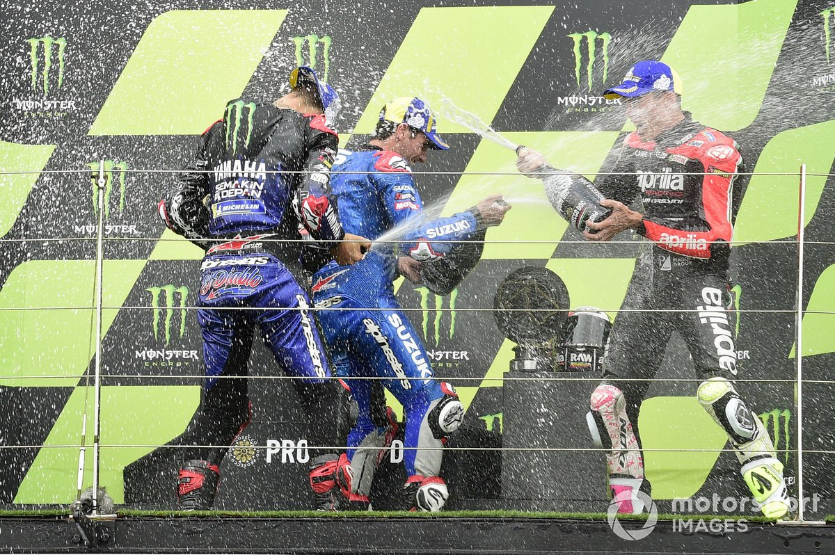 Alex Rins, Team Suzuki MotoGP, Fabio Quartararo, Yamaha Factory Racing, Aleix Espargaro, Aprilia Racing Team Gresini
