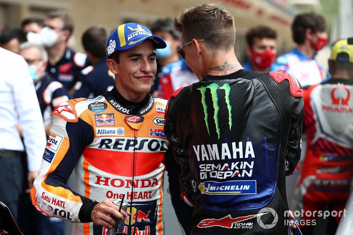 Marc Marquez, Repsol Honda Team, Fabio Quartararo, Yamaha Factory Racing