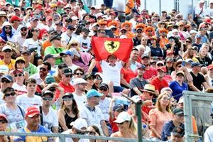 fans, crowd at the Hungarian F1 race
