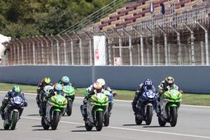 Meikon Kawakami, AD78 Team Brasil by MS Racing, Adrian Huertas, MTM Kawasaki, Jeffrey Buis, MTM Kawasaki, Bahattin Sofuoglu, Biblion Yamaha Motoxracing et Yuta Okaya, MTM Kawasaki