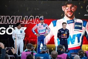 Le vainqueur Maximilian Götz, Haupt Racing Team, le deuxième Arjun Maini, GetSpeed Performance, le troisième Liam Lawson, AF Corse sur le podium