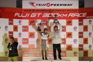 2008 GT500 Team champion TEAM TOM'S team director Masanori Sekiya and GT300 Team champion MOLA team director Misato Haga